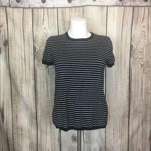 5/$18🔥 SALE 🔥Premise Black Striped Sweater Shirt